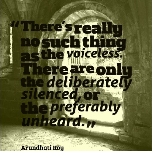 Voiceless_Arundhati Roy